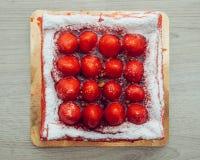 Gâteau de fraise, vue supérieure Images libres de droits