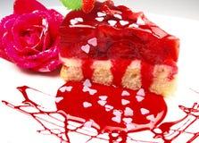 Gâteau de fraises Photo stock