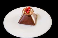 Gâteau de framboise Photographie stock libre de droits