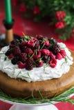Gâteau de framboise Images libres de droits