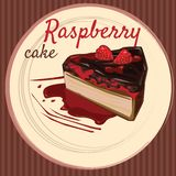 Gâteau de framboise, style de bande dessinée, insecte, bannière, illustration illustration stock