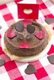 Gâteau de fromage et de chocolat Image libre de droits