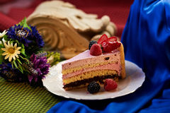 Gâteau de fruit images stock