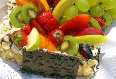 Gâteau de fruit. Images libres de droits