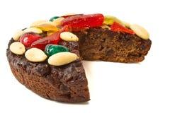 Gâteau de fruit de chocolat Photo libre de droits