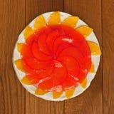 Gâteau de fruit et de gelée photographie stock libre de droits