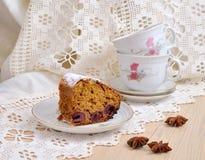 Gâteau de fruits secs Photographie stock libre de droits