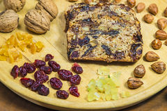 Gâteau de fruits secs allemand Photo libre de droits