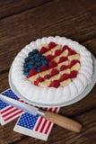 Gâteau de fruits secs avec le thème du 4 juillet Photo stock