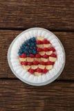 Gâteau de fruits secs avec le thème du 4 juillet Photos libres de droits