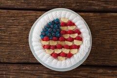Gâteau de fruits secs avec le thème du 4 juillet Photos stock