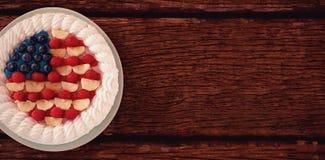 Gâteau de fruits secs avec le thème du 4 juillet Photographie stock