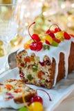 Gâteau de fruits secs de Noël Photographie stock libre de droits