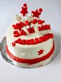 Gâteau de gâteau d'anniversaire de fondant Images stock