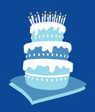 Gâteau de garçon d'anniversaire Images libres de droits