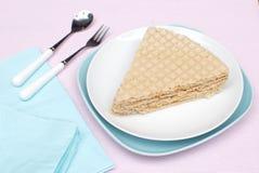 Gâteau de gaufre Photo libre de droits