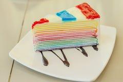 Gâteau de gelée avec coloré Photographie stock