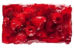 Gâteau de gelée de framboise Photos libres de droits