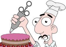 Gâteau de givrage Photos libres de droits