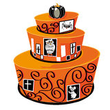 Gâteau de Halloween Photos stock