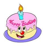 Gâteau de joyeux anniversaire Images libres de droits