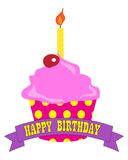 Gâteau de joyeux anniversaire Vecteur du format EPS10 Photo stock