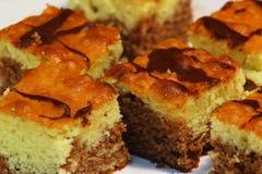 Gâteau de la Madère d'éponge de chocolat Images stock
