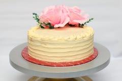 Gâteau de la meilleure qualité de vanille - une rangée Photographie stock libre de droits