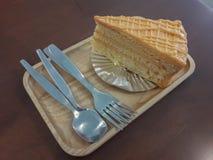 Gâteau de la plaque image libre de droits