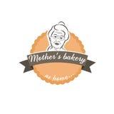 Gâteau de label d'illustration avec la grand-mère Images stock