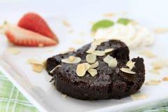 Gâteau de lave de chocolat Images libres de droits