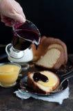 Gâteau de livre Photo libre de droits