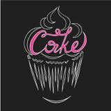 Gâteau de logo Photographie stock