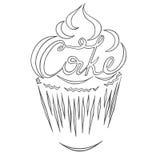 Gâteau de logo Image stock