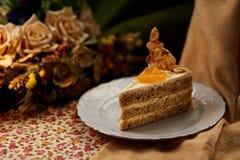 Gâteau de mandarine Images libres de droits