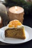 Gâteau de mandarine Images stock