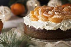 Gâteau de mandarine Photographie stock libre de droits