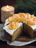 Gâteau de mandarine Image libre de droits