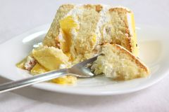 Gâteau de mangue Photographie stock