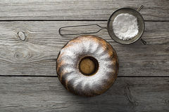 Gâteau de marbre Photo stock
