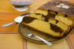 Gâteau de marbre Image stock