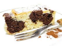Gâteau de marbre de chocolat. Images libres de droits
