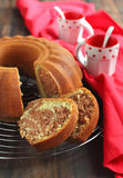 Gâteau de marbre de chocolat Photographie stock