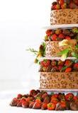 Gâteau de mariage Photographie stock libre de droits