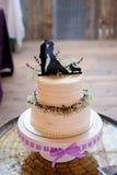 Gâteau de mariage de corgi Topper Photographie stock libre de droits