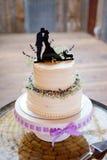 Gâteau de mariage de corgi Topper Photos stock
