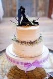 Gâteau de mariage de corgi Topper Photo stock