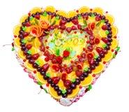 Gâteau de mariage de fruit Photo stock