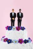 Gâteau de mariage de Homo Photographie stock libre de droits