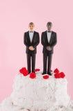 Gâteau de mariage de Homo Photos libres de droits